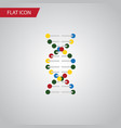 isolated dna flat icon genome element can vector image