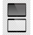 pair gadgets mockup transparent background vector image