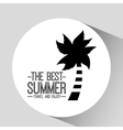 palm tree card best summer travel and enjoy vector image