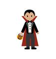 vampire halloween costume vector image