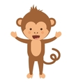 funny monkey character isolated icon design vector image