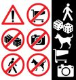 icons safety vector image