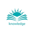 logo knowledge vector image vector image