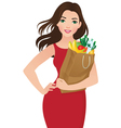 Healthy eating secret of beauty vector image