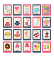 Set of 20 food icons vector image