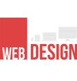 word cloud web design vector image
