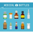 Cool Various Medication Bottles for Medical vector image