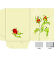 template for folder with roses vector image vector image