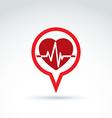 Cardiology cardiogram heart beat icon conceptual vector image