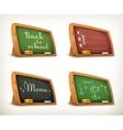 Chalkboards school sport menu vector image vector image