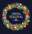 Christmas wreath Holiday background vector image