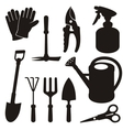 Gardening silhouettes vector image