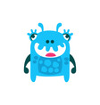 cute cartoon monster fabulous incredible creature vector image