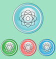 Ecology Icons Set Line Art Style vector image