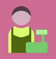 flat icon cashier vector image
