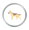 German shepherd icon in cartoon style for vector image