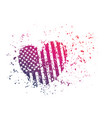 grunge heart abstract print for t-shirt vector image