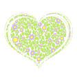 heart of wild flowers vector image