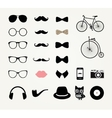 Hipster Retro Vintage Icon Set vector image