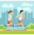 Jogging sport people athletic running man and vector image