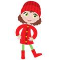little girl in a coat vector image