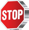 Stop sign 01 resize vector image
