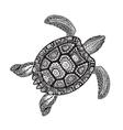 Turtle ethnic tribal style decorative ornament vector image