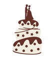 wedding cake isolated icon design vector image