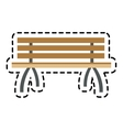 Isolated bench of park design vector image