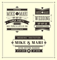 Retro Weddings vector image