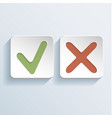 tick and cross signs icons vector image