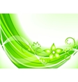 vector green background vector image