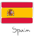 Spain flag doodle vector image vector image