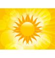 summer sunset sun vector image vector image