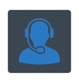 Call Center Operator Icon from Commerce Buttons vector image