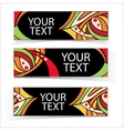 Abstract colorful headers or banners set vector image