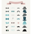 Colorful Fashion Hipster Retro Vintage Icon vector image