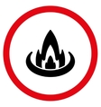 Fire Location Flat Rounded Icon vector image