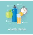 Flat stylish banners set Medicine vector image
