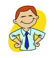 happy office man vector image