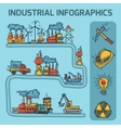 Industrial sketch infographic set vector image