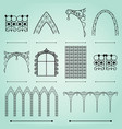 silhouettes arches fences and windows vector image