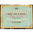 Vintage Christmas Card with Grunge Background vector image
