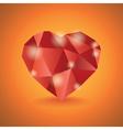 Abstract diamond heart vector image vector image