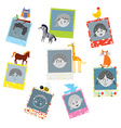 Photo frames designs for kids with funny animals vector