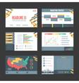 Presentation Templates Banner Set vector image