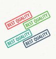 best quality rubber stamp in different colors vector image