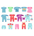 boy and girl baby garments infant clothes vector image