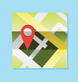 map and pin vector image