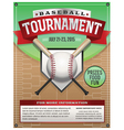 Baseball Tournament Flyer vector image vector image